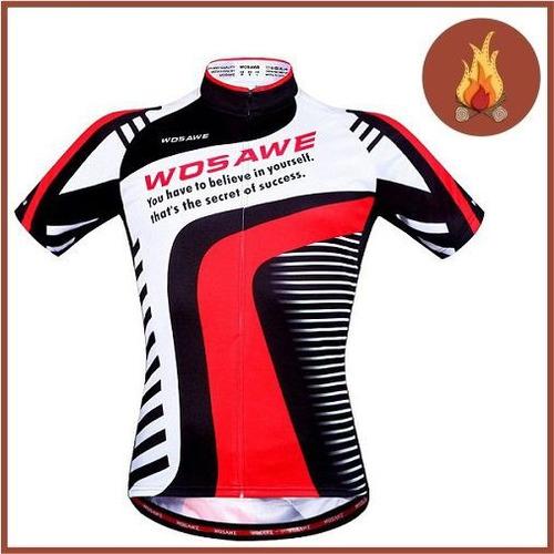 camisa ciclismo wosawe masculina
