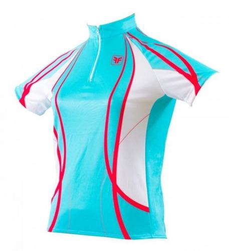 camisa ciclista free force feminina feline verde