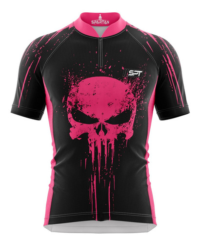 camisa ciclista spartan w justiceiro (f) - ref 30.5 - uv50+