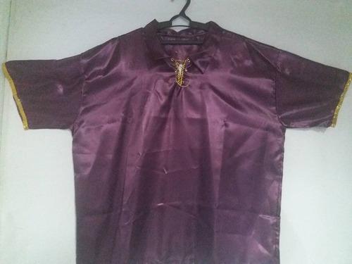 camisa cigana masculina em cetim