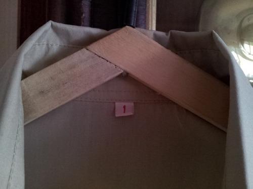 camisa clásica beige manga al codo t.1 excelente estado!!!