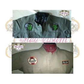 Camisa Clasica Mecanico/rockabilly/carrera/pinup/vintage/50s