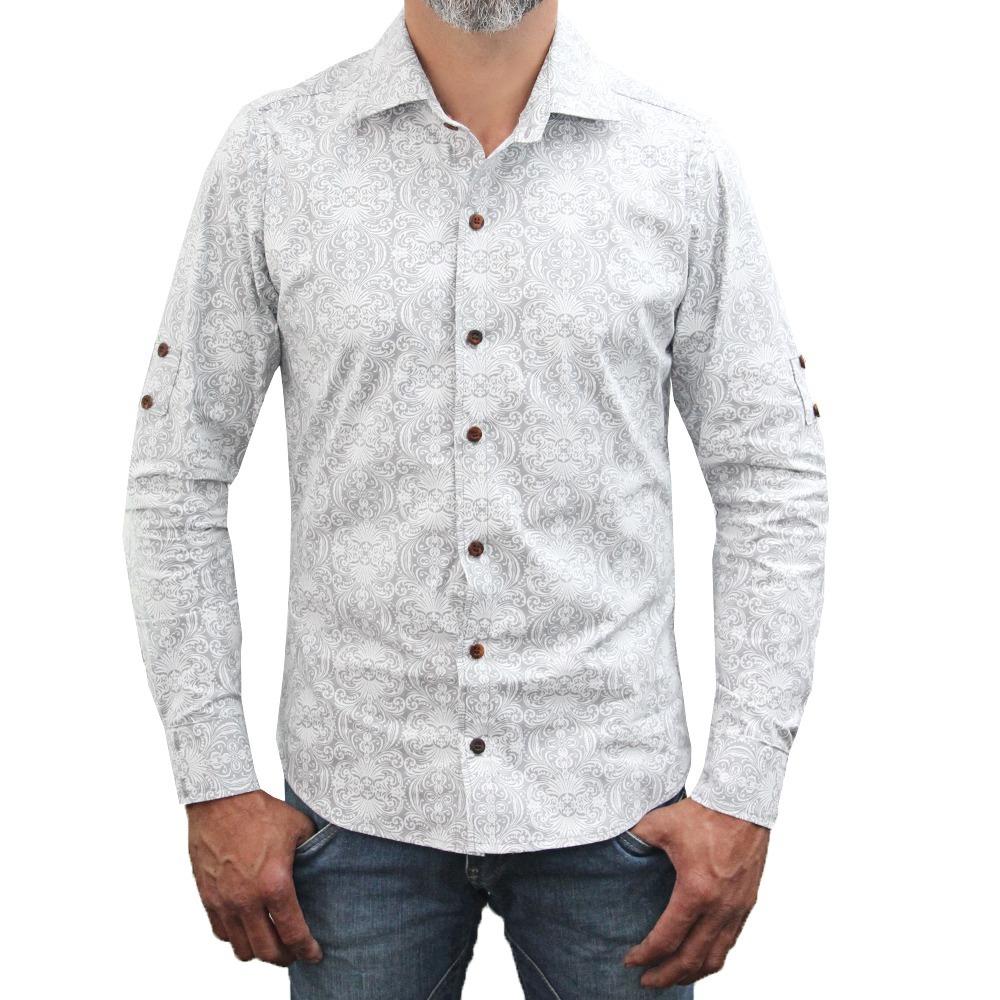 b39f74519 camisa classic masculina slin manga longa botões em madeira. Carregando  zoom.