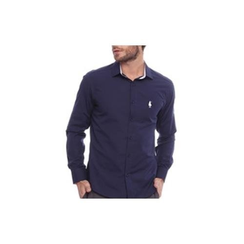 b29e5700cb Camisa Club Polo Collection Social Out Azul Marinho - R  99