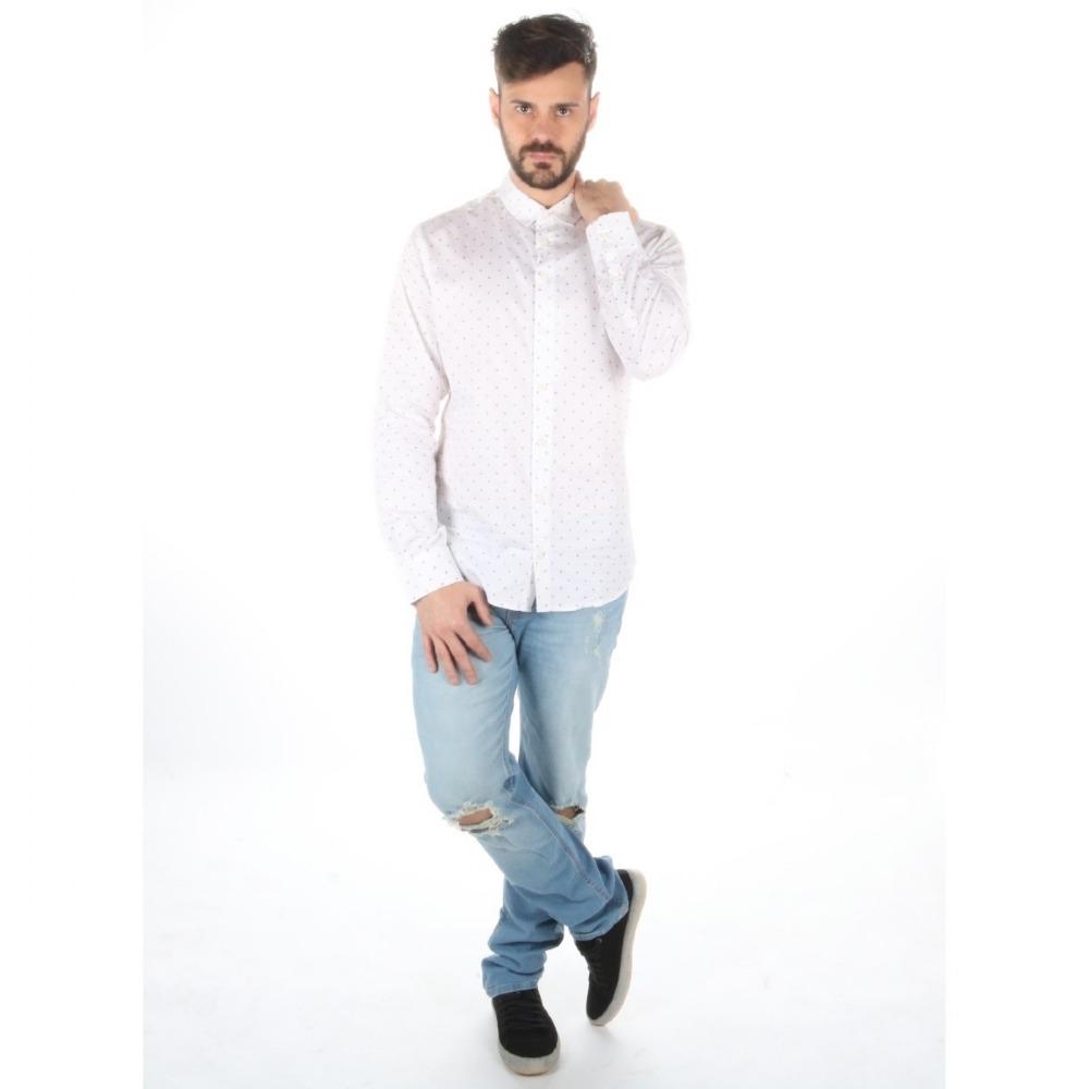 Camisa Colcci Masculina Manga Longa Slim Micro Estampa - R  315 b53bc918ba4