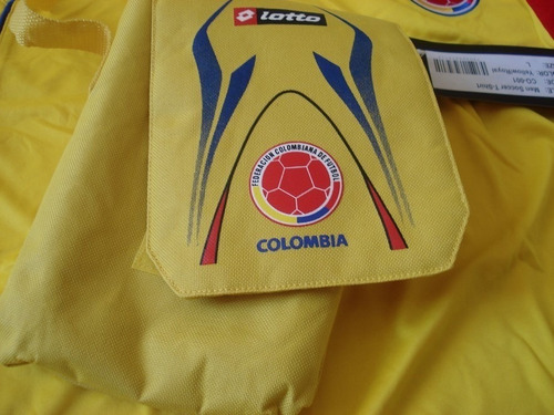 camisa colombia lotto 2009 2010 nova original com bag