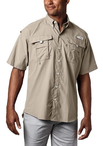 camisa columbia bahama ii color fossil,talla l original 100%