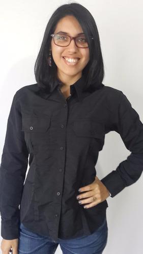 camisa columbia ejecutiva manga larga de dama en microfibra