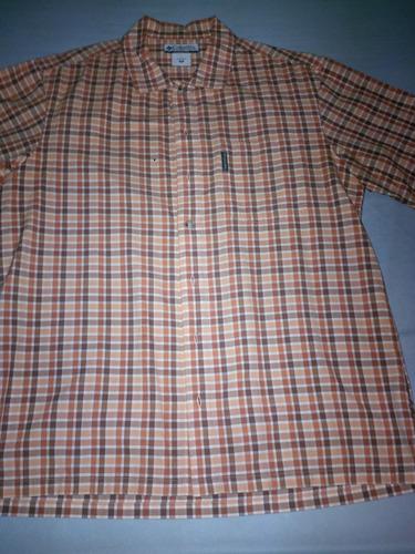 camisa columbia manga corta talla m (grande)