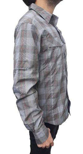 camisa columbia silver ridge plaid m/ largas hombre upf 30