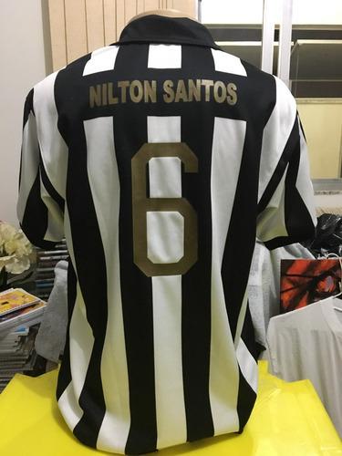 camisa comemorativa do botafogo em homenagem à nílton santos