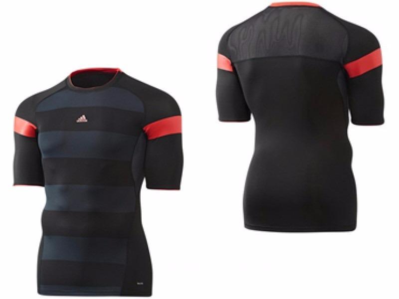 camisa compressão adidas listrada térmica running fitness. Carregando zoom. ef098110e3b5c