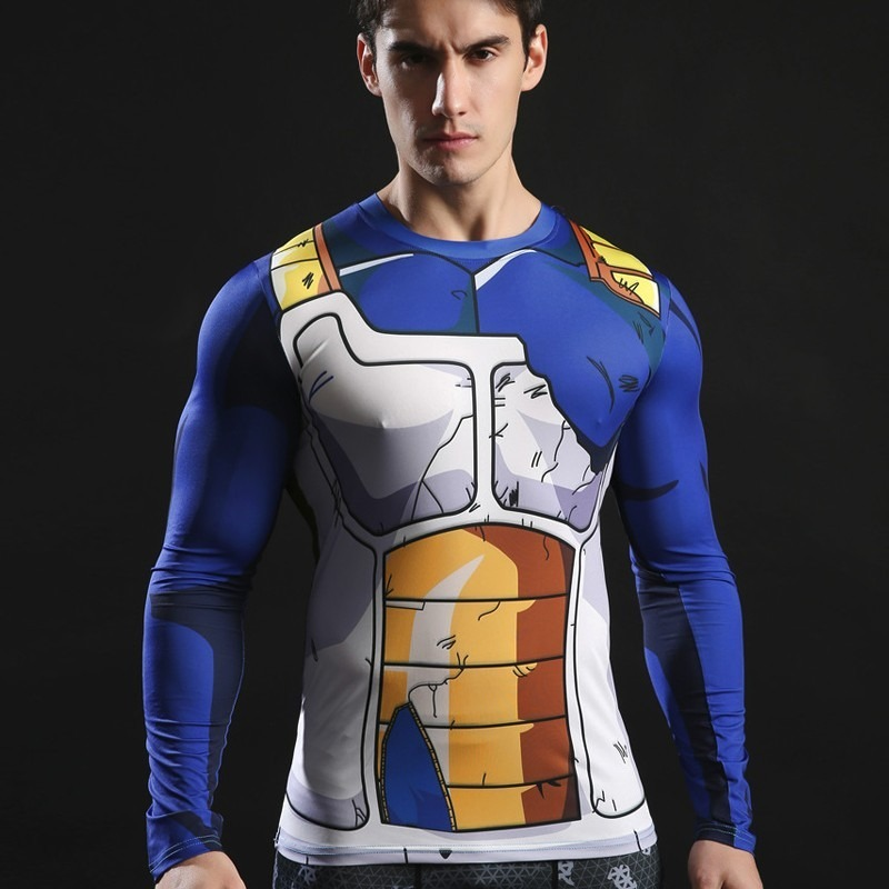 Camisa Compressão Dragon Ball Vegeta Cosplay Academia - R  69 85c782c38