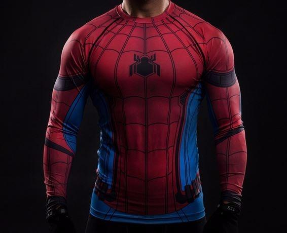 05980f25a Camisa Compressão Homem Aranha Spider Man Manga Longa - R  199