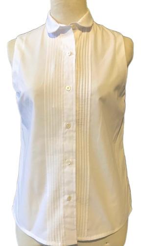 camisa con alforzas, sin mangas, sustentable reinventando