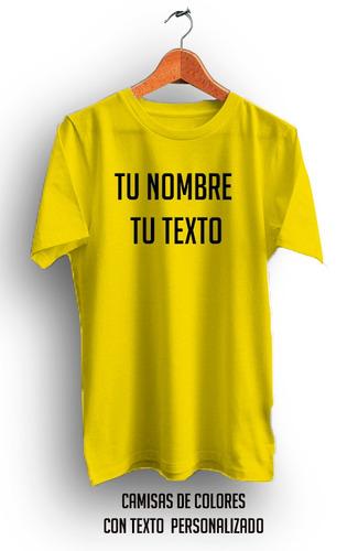 camisa con texto personalizada en oferta azul