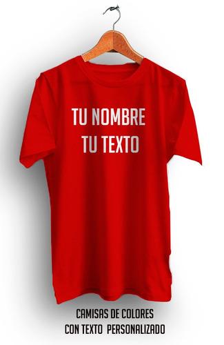 camisa con texto personalizada en oferta celeste