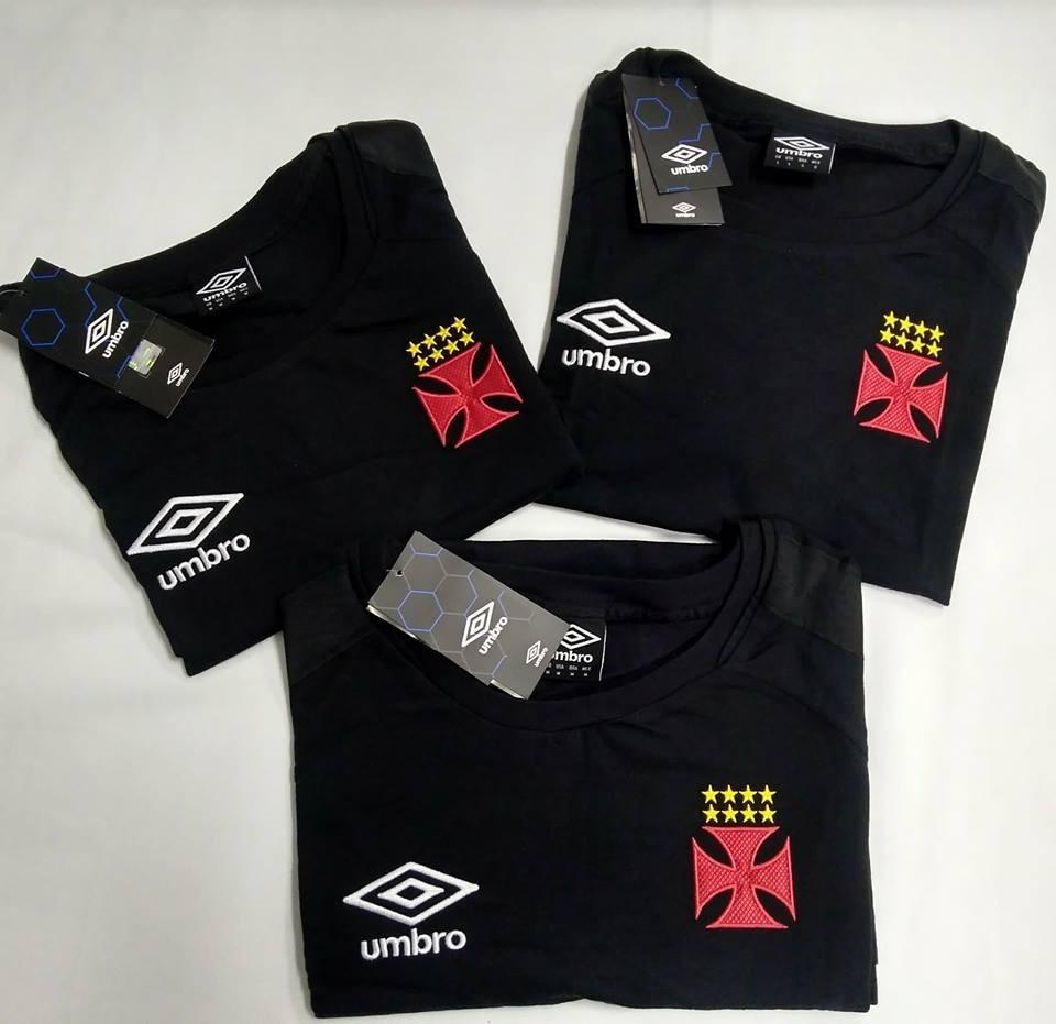 camisa concentração vasco preta oficial umbro 2017 2018 nova. Carregando  zoom. 4c737a9a1d55a