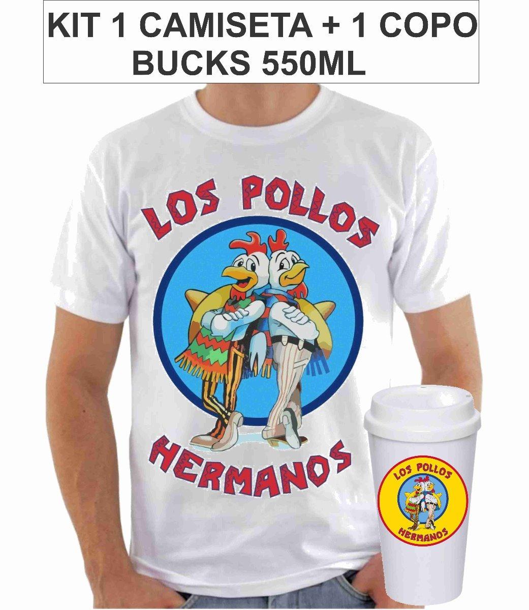 ec7b83210 Camisa + Copo Bucks Los Pollos Hermanos Breaking Bad