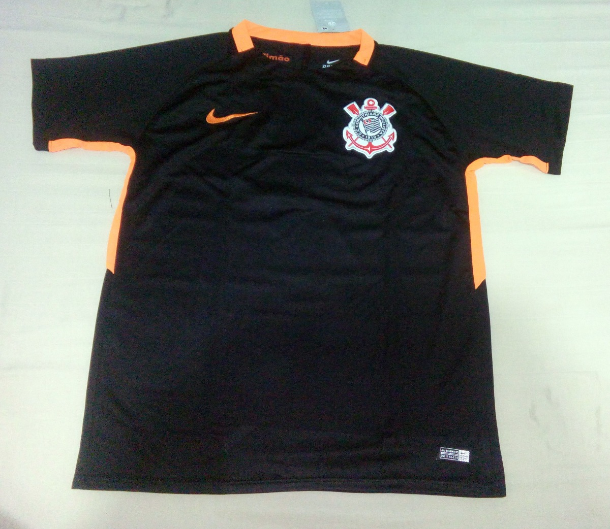 a0dfafc545 camisa corinthians 17 -18 preto / laranja supporter torcedor. Carregando  zoom.