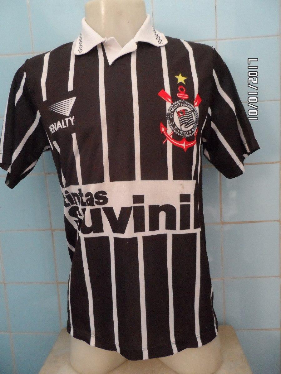 2d6beaf9f9a91 camisa corinthians 1995 n 9 preta. Carregando zoom.