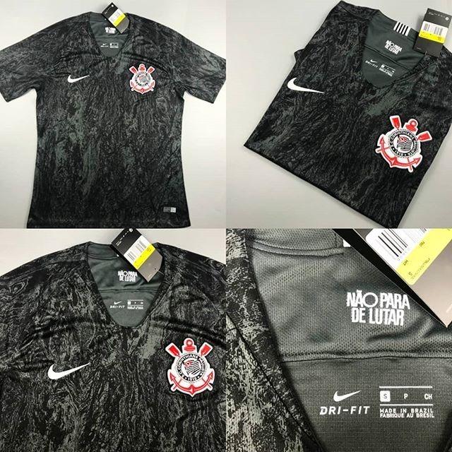 Camisa Corinthians 2 2019 Nova Original Oficial Nike Preta - R  89 ... e7742a1b5d7e6