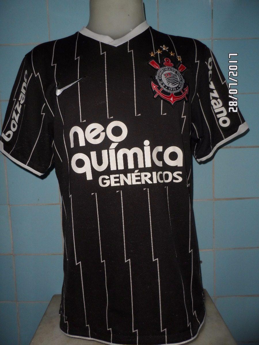 camisa corinthians 2010 preta n 10. Carregando zoom. 6236e5419a115