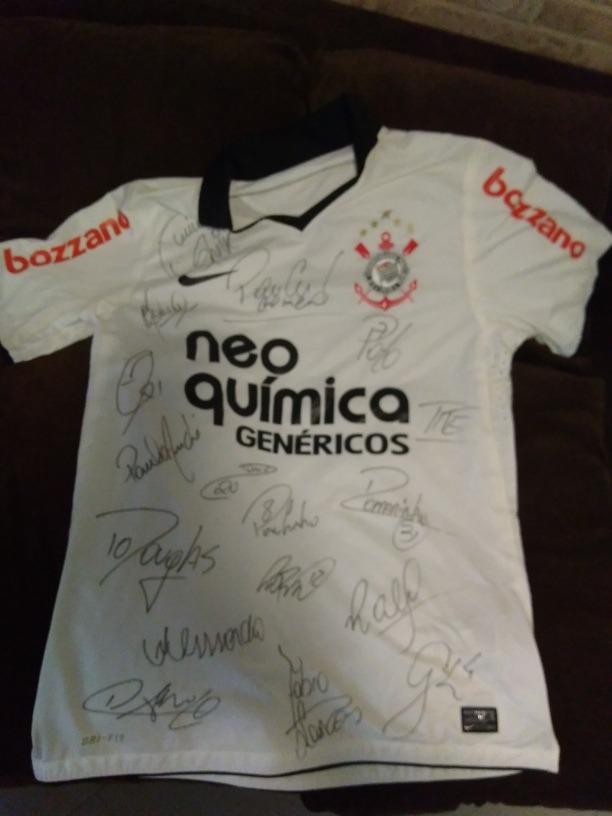 camisa corinthians 2012 autografada mundial e libertadores.. Carregando  zoom. a47dfcd092f9b