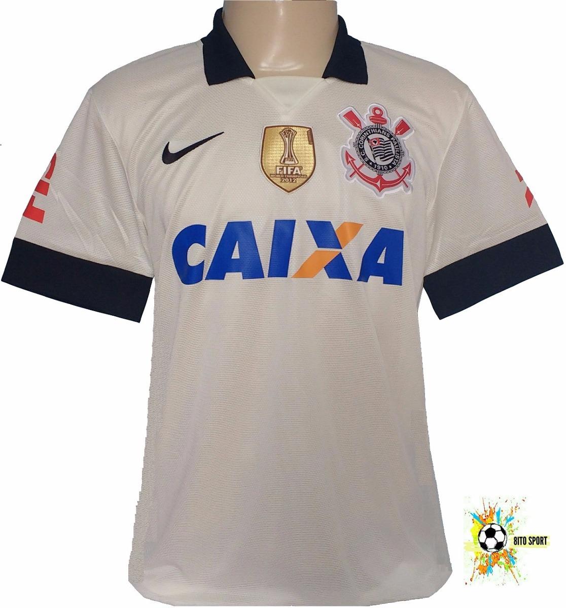 camisa corinthians 2013 branca nike patch escudo fifa 2012. Carregando zoom. 71d70ba2a69aa