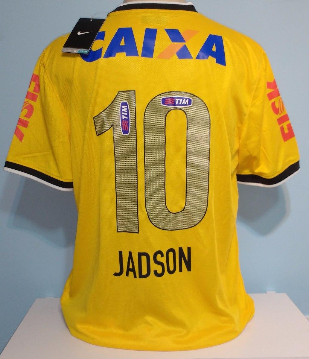 248f395706 camisa corinthians 2014 amarela jadson original nike. Carregando zoom.