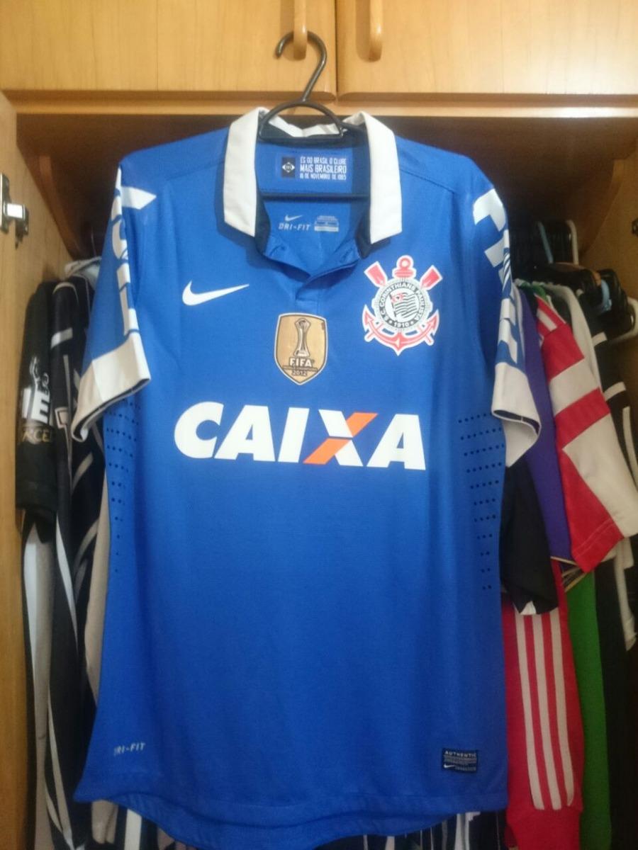 camisa corinthians 2014 azul de jogo rodriguinho. Carregando zoom. 6822a87136233