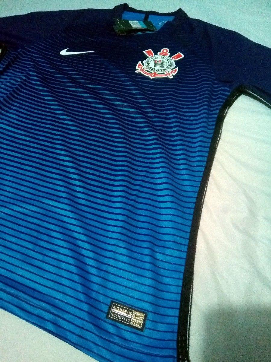 7db259a11 camisa corinthians 2016 -17 azul torcedor original importada. Carregando  zoom.