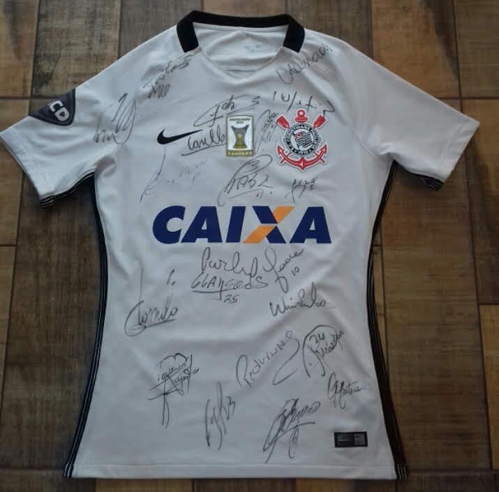 Camisa Corinthians 2016 De Jogo Autografada Guilherme Arana - R  499 ... 1d50c3686ede5
