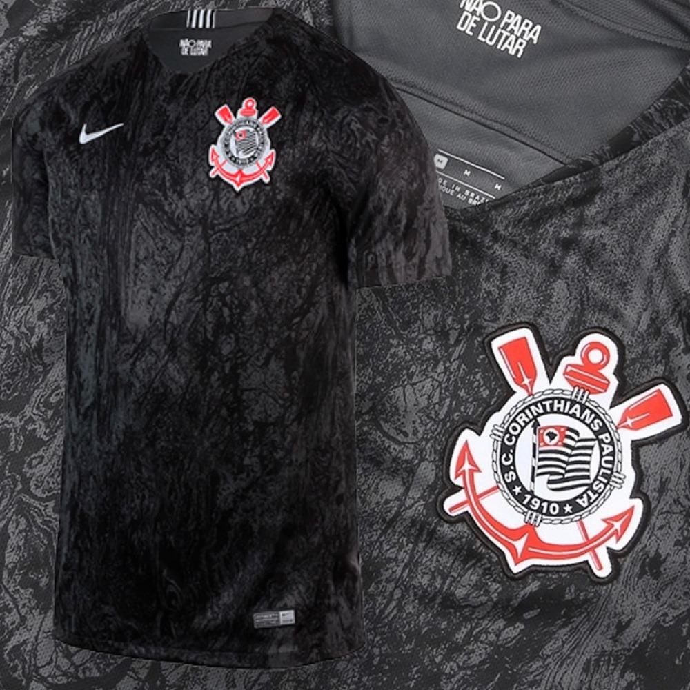 camisa corinthians 2018 2019 oficial original 2 nike preta. Carregando zoom. a4943835426a0