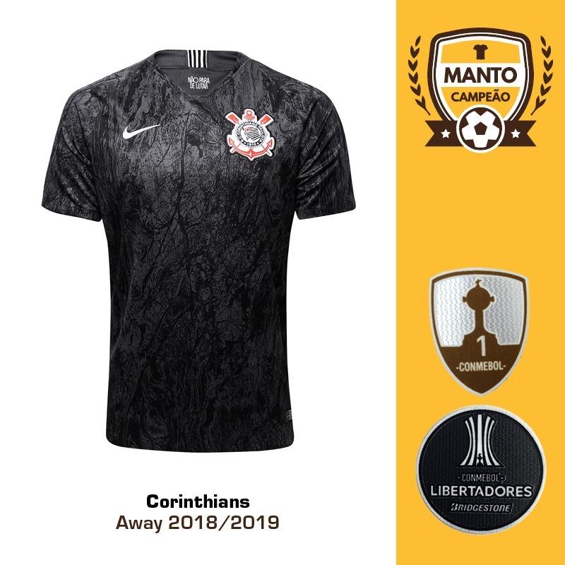 1565c06c4 camisa corinthians 2018 2019 away uniforme 2 fagner jadson. Carregando zoom.