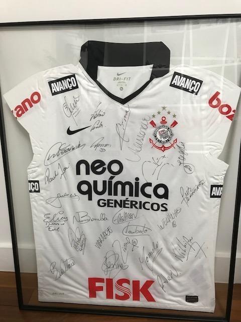 Camisa Corinthians Autografada E Enquadrada - 2011 - R  1.500 3980f9cf0fc49