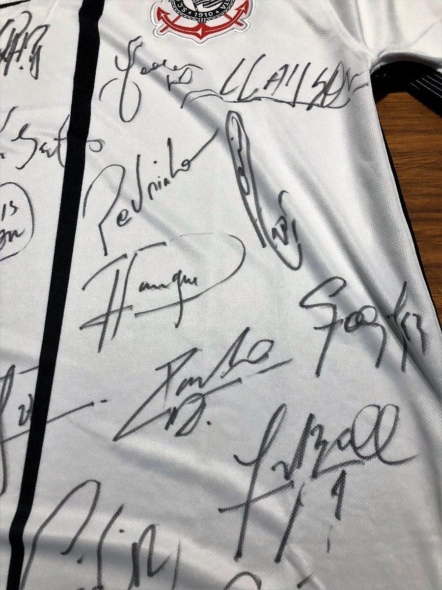 camisa corinthians autografada elenco campeão 2017. Carregando zoom. e21936b2b6826