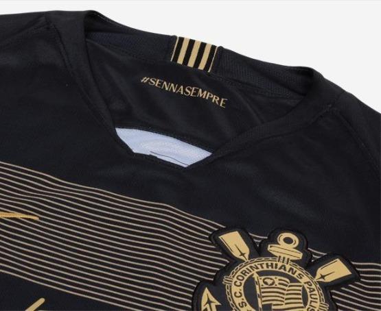 6ce685813a Camisa Corinthians Ayrton Senna 2018 Nike Oficial Torcedor - R  155 ...
