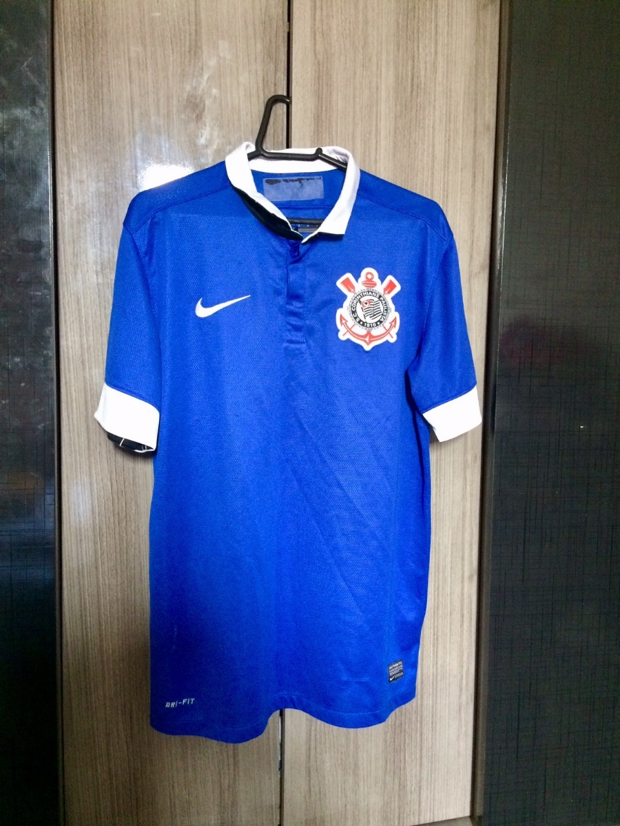 camisa corinthians azul 2013 - oficial nike - m. Carregando zoom. b4cead501ee2b