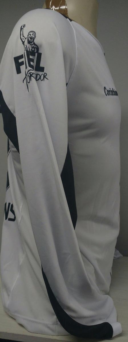 08f2289e29920 camisa corinthians branca manga longa 2017 18. Carregando zoom.