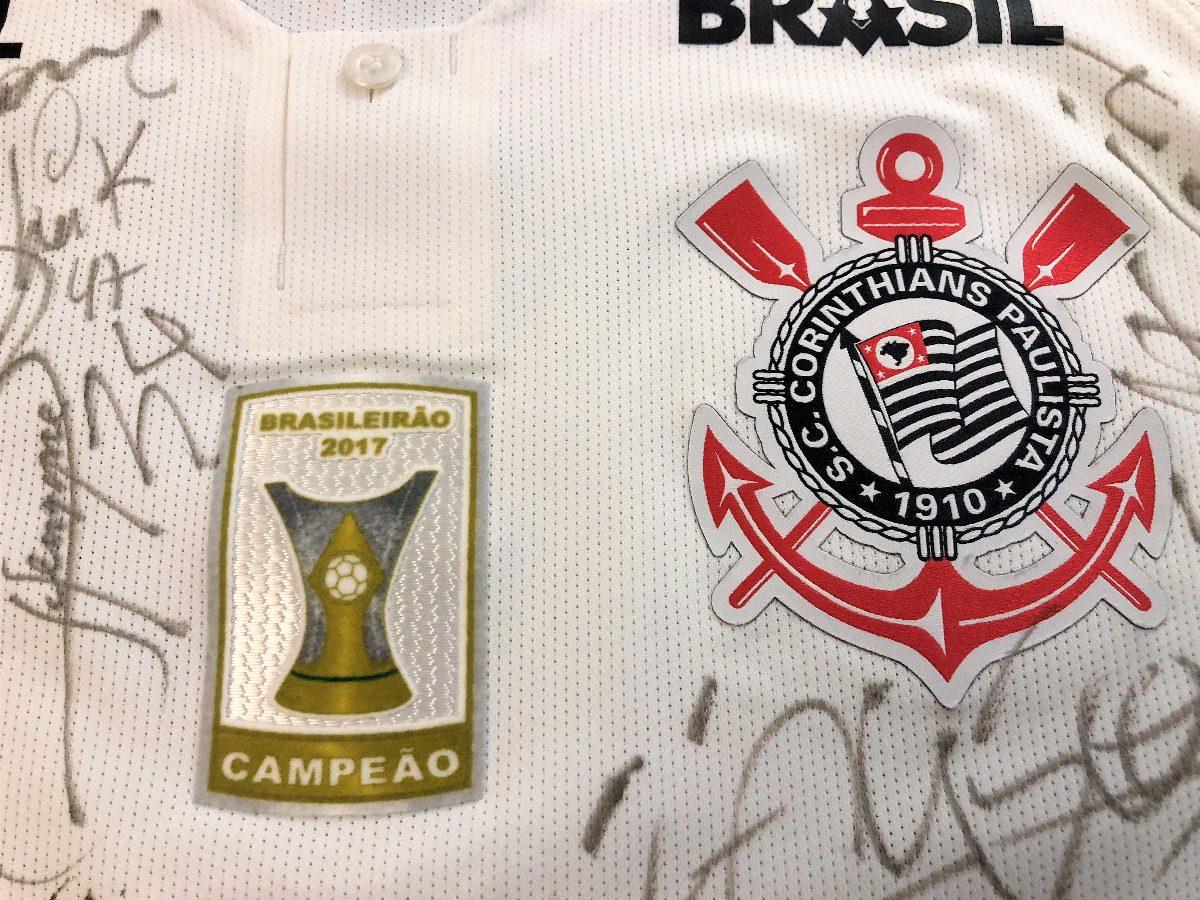 Camisa Corinthians Brasileiro 2018 De Jogo Autografada Todos - R ... fbd9025d9b816