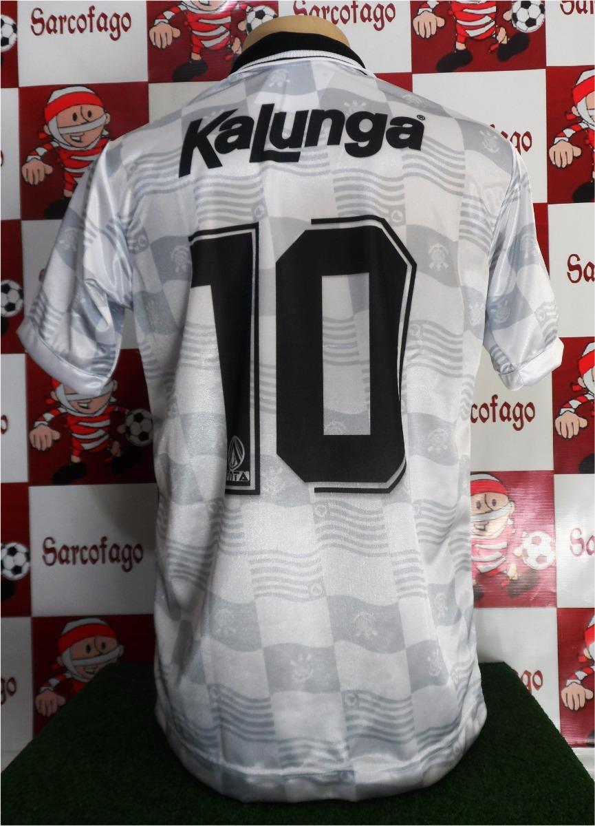 8adf40b3dd Camisa Corinthians Retro Kalunga Campeão Brasileiro 1990 - R  89