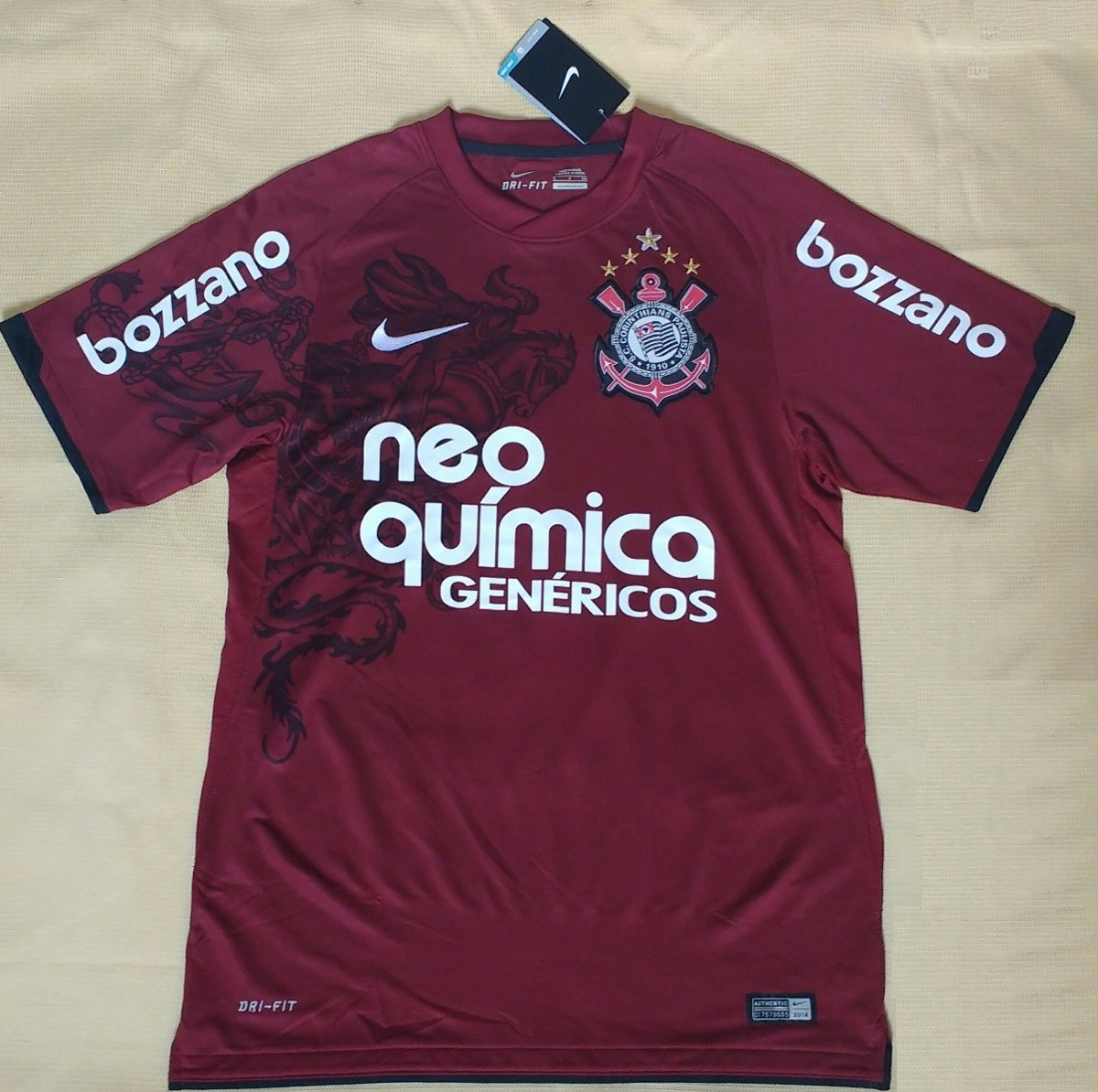 camisa corinthians campeão 2011 grená original nike paulinho. Carregando  zoom. fcbf0c4581f70