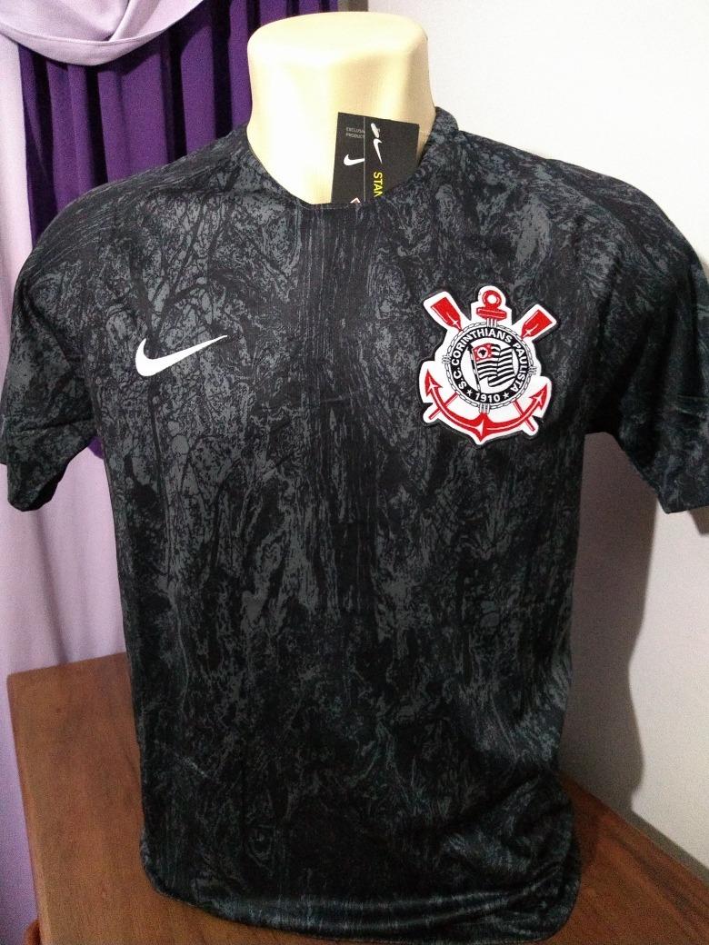camisa corinthians cinza preto camuflada 2018 frete gratis. Carregando zoom. 6e45e463c338b