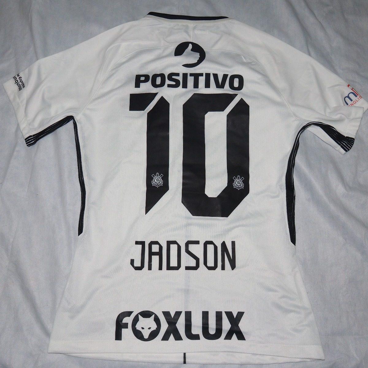 camisa corinthians de jogo - positivo - jadson. Carregando zoom. dea20a5e39c59