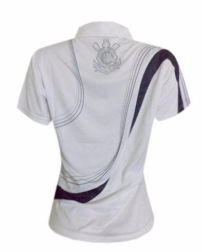 Camisa Polo Do Corinthians Baby Look Feminina Oficial-2unid - R  120 ... 87abf3d1949a3