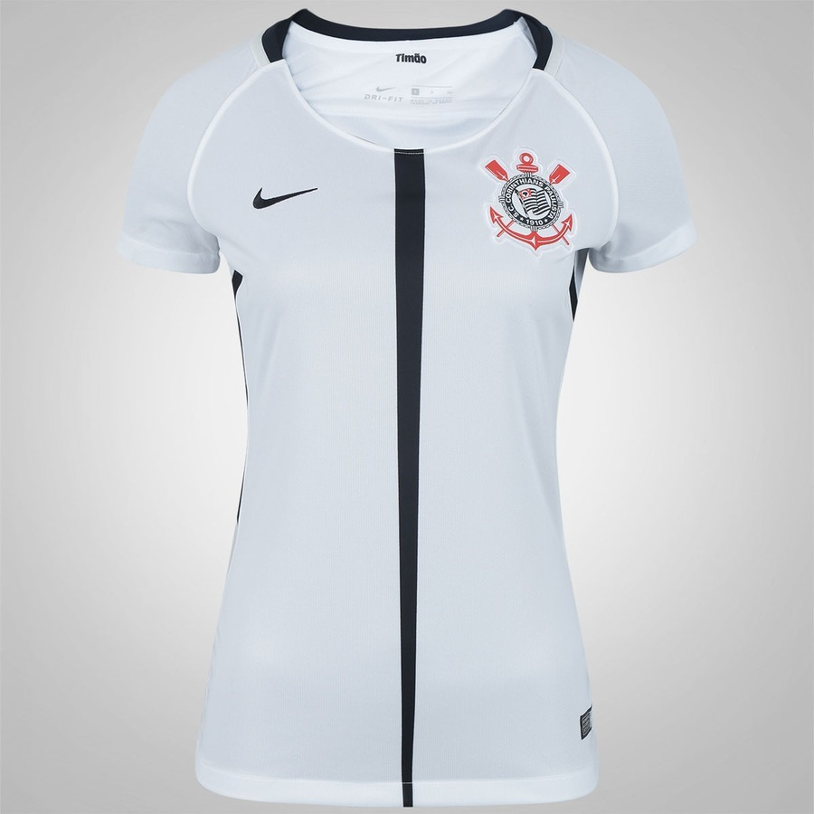 Camisa Corinthians Feminina Babylook Oficial Sup Ao Torcedor - R  45 ... a46f9f15fc7d4