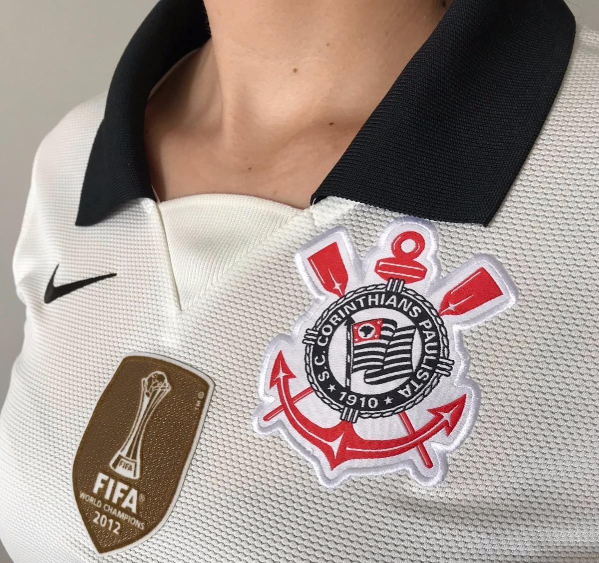 Camisa Corinthians Feminina - Escudo Campeão Mundial Fifa - R  79 58a4a09057e76