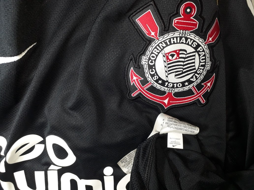 cec9b9ede6 camisa corinthians goleiro nike oficial temp.2011 tam. g. Carregando zoom.