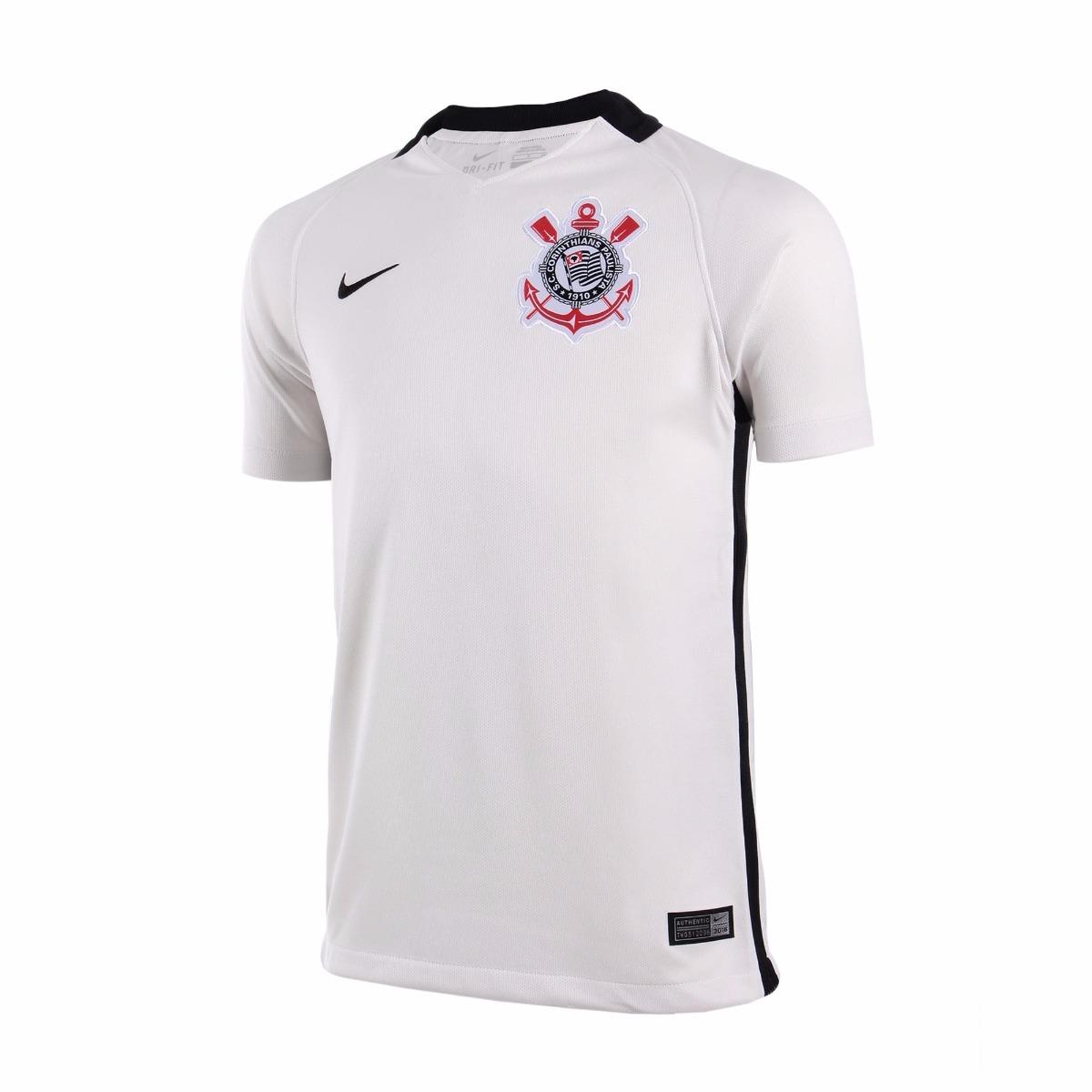 camisa corinthians infantil 2016 branca nike - footlet. Carregando zoom. a98e3bd94c09d